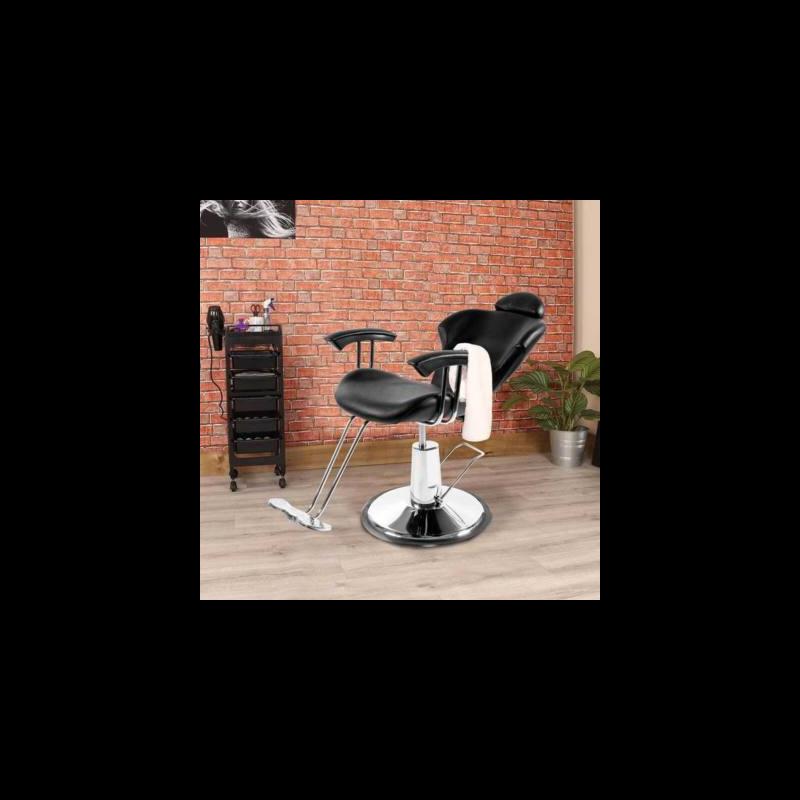Fodrász szék állítható magassággal fekete